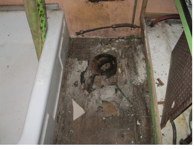 Bathroom Floor Was Rotted From Leaks